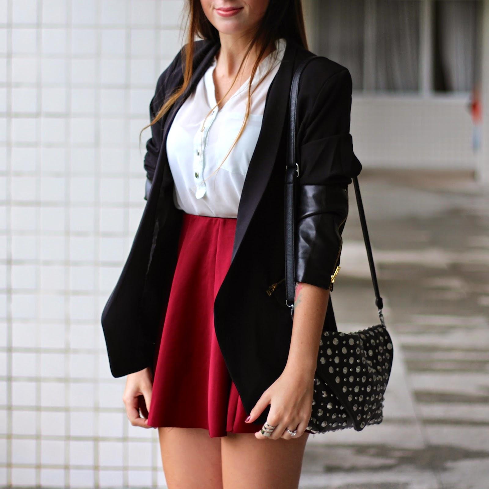blazer couro