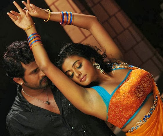 Priyamani Hot Navel Show S In Saree From Tikka Movie