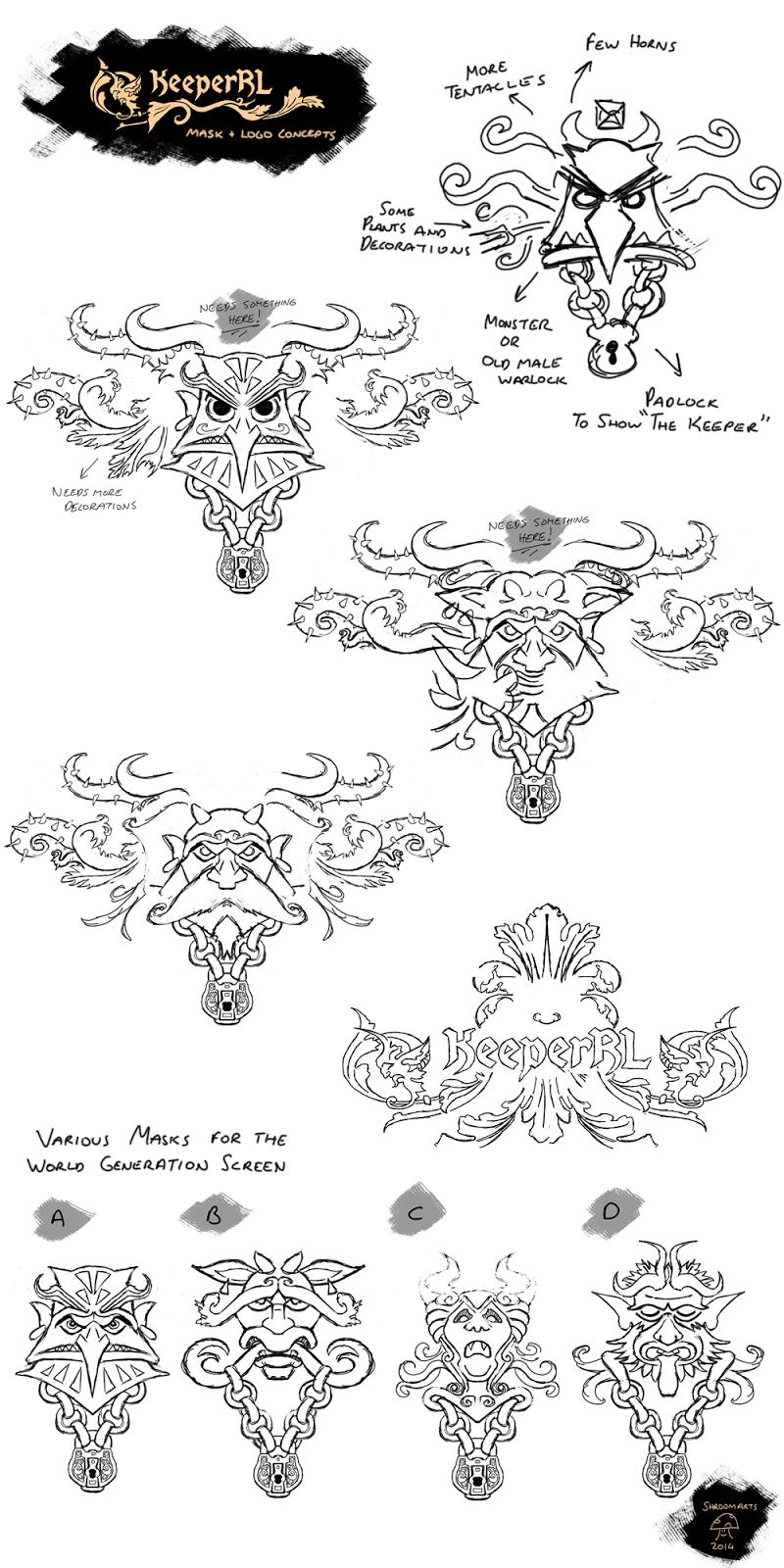 Keeper RL mask and logo concepts