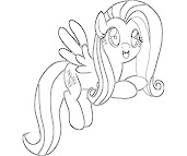 #12 Fluttershy Coloring Page