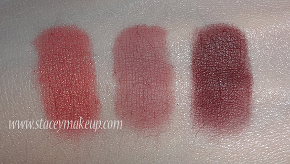 Makeup Geek Eyeshadows swatches mango tango, cupcake, bitten