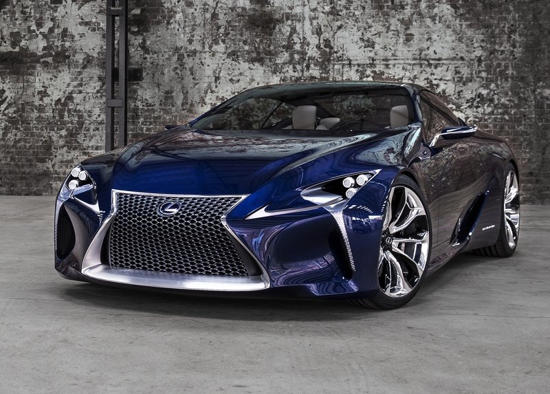 sport car garage lexus lf lc blue concept 2012. Black Bedroom Furniture Sets. Home Design Ideas