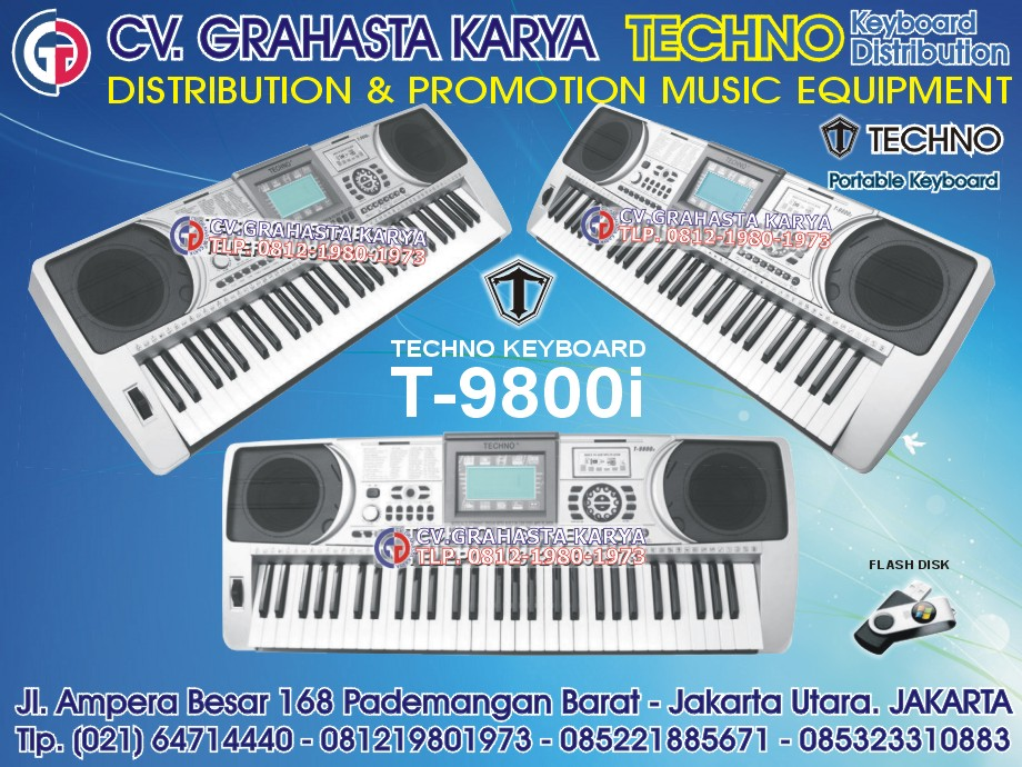 jual keyboard techno t9800i