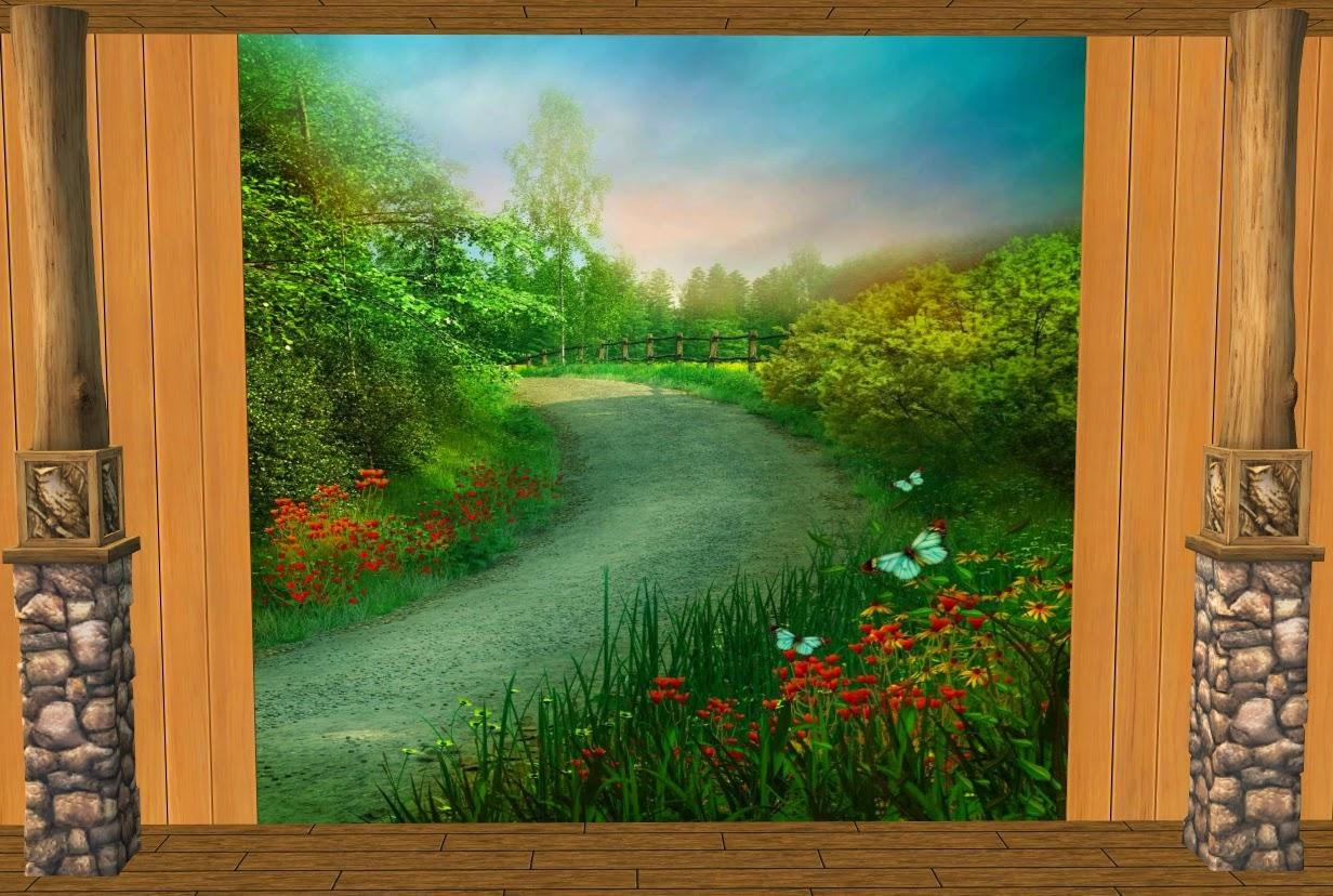 theninthwavesims the sims 2 nature woodland scene paneling walls mural set