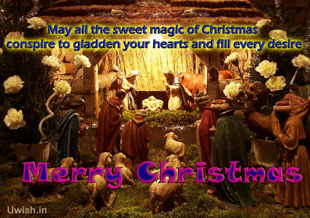 Merry Christmas wishes and greetings on Jesus Christ birth to earth.
