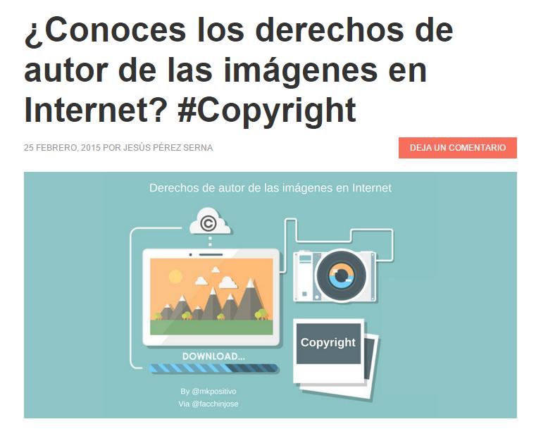 derechos autor imagenes internet
