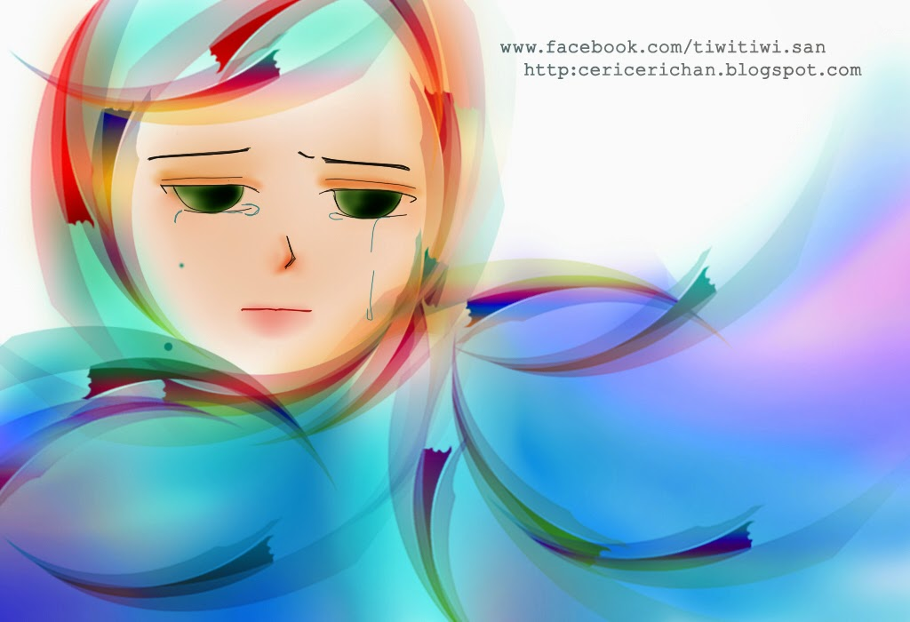 girl, rain, paint tool SAI, wallpaper, cute, photoshop. rainy, sad, break, heart