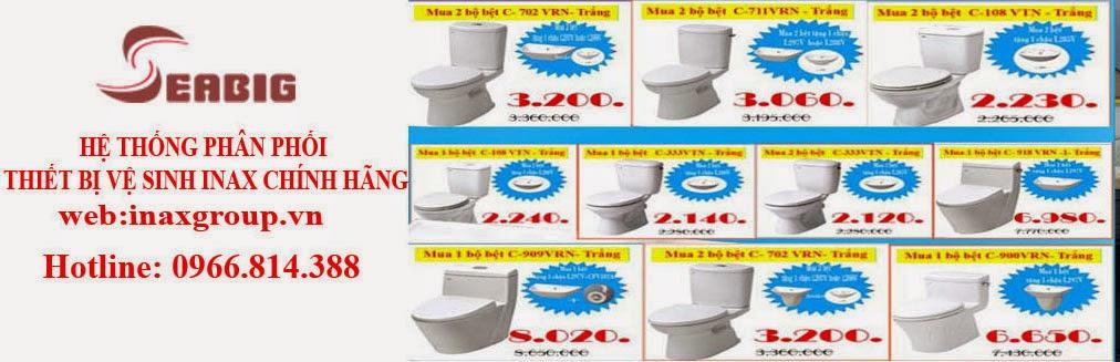 Báo Giá thiết bị vệ sinh inax rẻ nhất Hà Nội 2014
