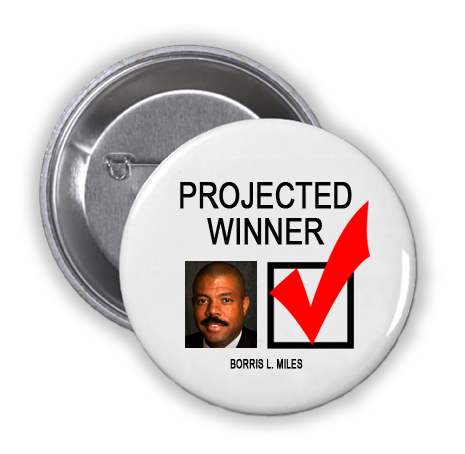 BORRIS L. MILES IS A PROJECTED WINNER IN THE TUESDAY, NOVEMBER 8, 2016 PRESIDENTIAL ELECTION