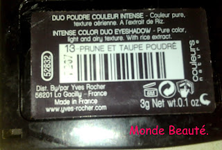 Duo poudre Yves Rocher