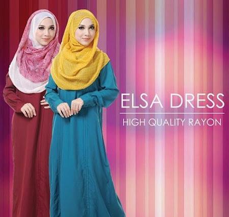 On Sale ELSA DRESS. Pelbagai Pilihan Dress Muslimah Yang Menawan