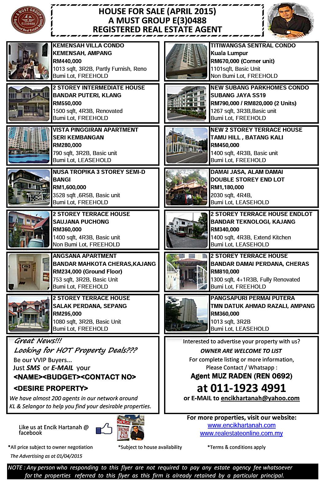 listing house for muz raden encik hartanah listing house for 2015