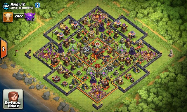 War Base TH 10 terbaik anti Gowipe dan Anti Golem Hog - Android Soft