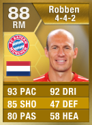 Arjen Robben 88 - FIFA 13 Ultimate Team Card - FUT 13