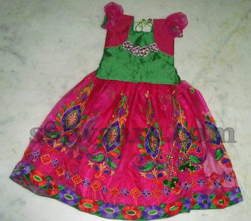 Full Embroidered Kids Lehenga