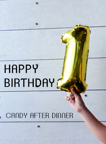 First Anniversary of Candy After Dinner