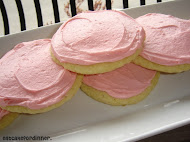 Soft Cookies with Pink Icing