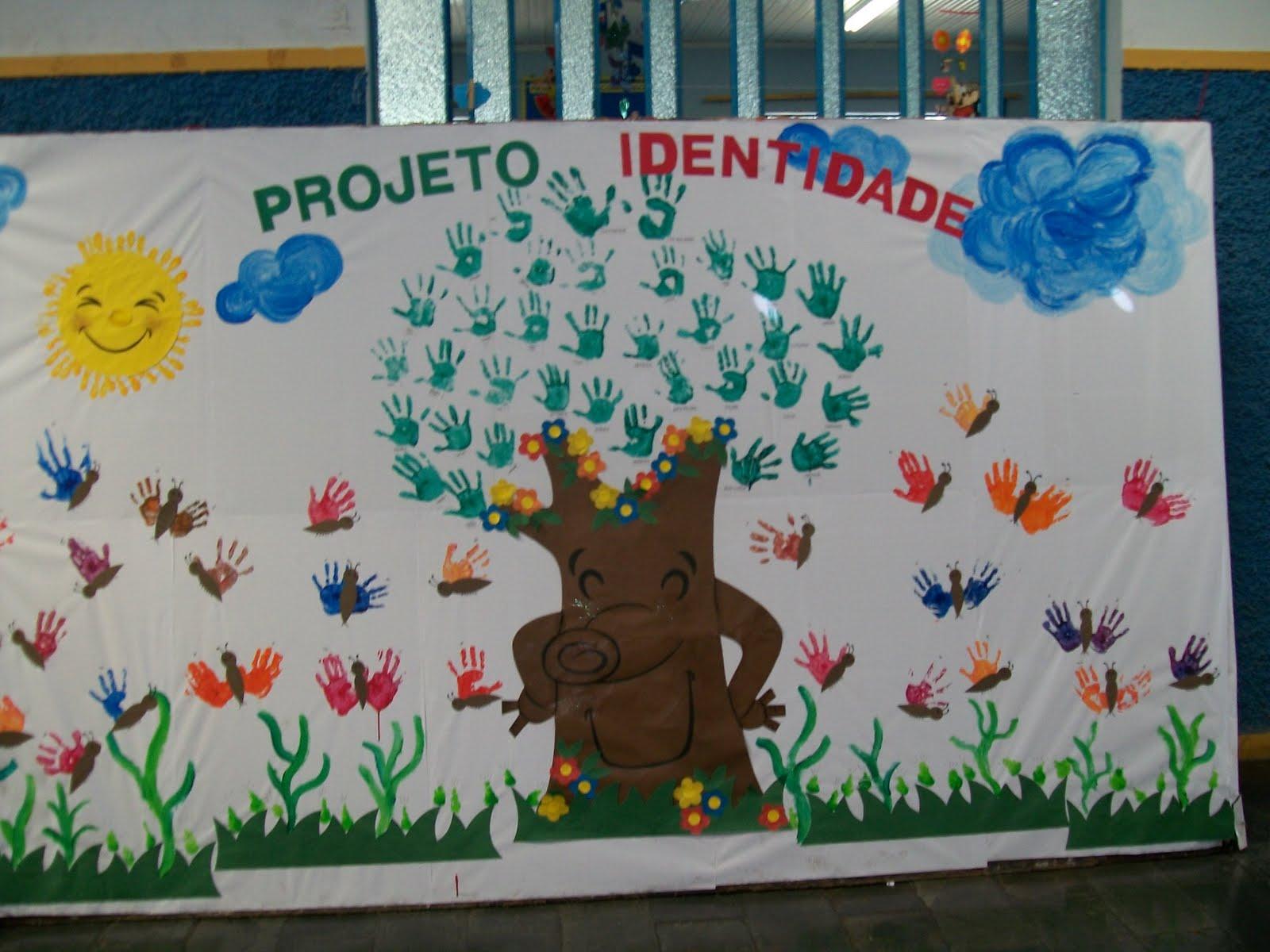 Rosearts atividades para imprimir projeto identidade painel for Mural sobre o meio ambiente