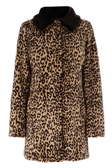 leopard print coats for women-carven leopard wool printed coay