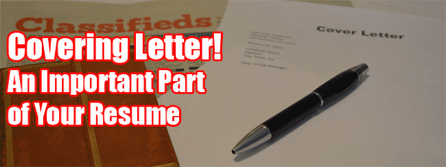 Covering Letter Important Part of Your Resume
