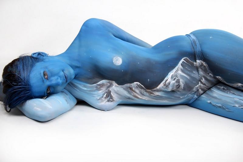 D.W.C. Bodypaintings - Painter Gesine Marwedel