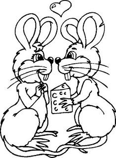 Risco para pintura de ratinhos