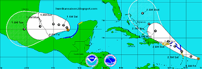 MARIA & NATE: Alles bleibt anders, Katia, Maria, Nate, Europa, Atlantik, Verlauf, Vorhersage Forecast Prognose, Kleine Antillen, September, 2011, Hurrikansaison 2011, aktuell,