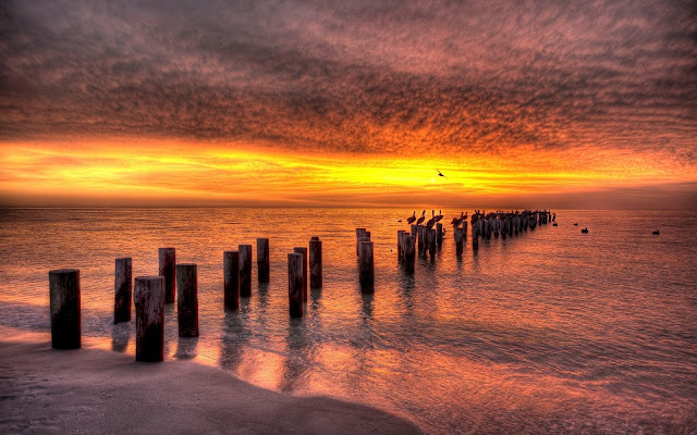 Atardecer Imagenes de Hermosos Paisajes HDR de Playas