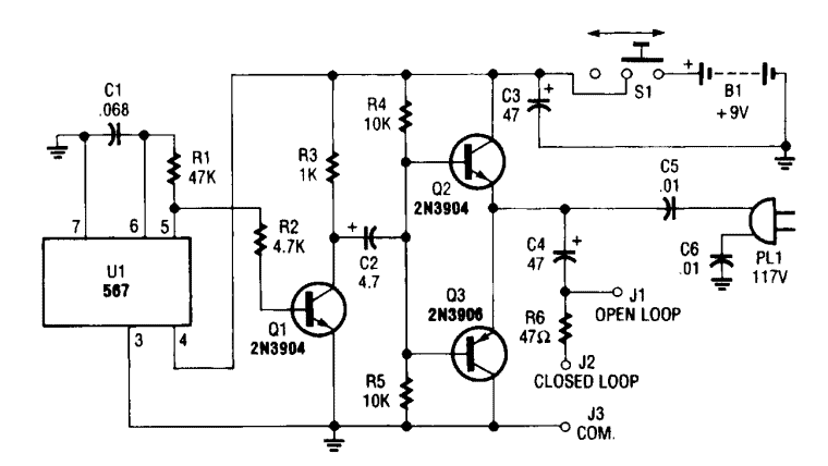 square wave oscillator as wire tracer