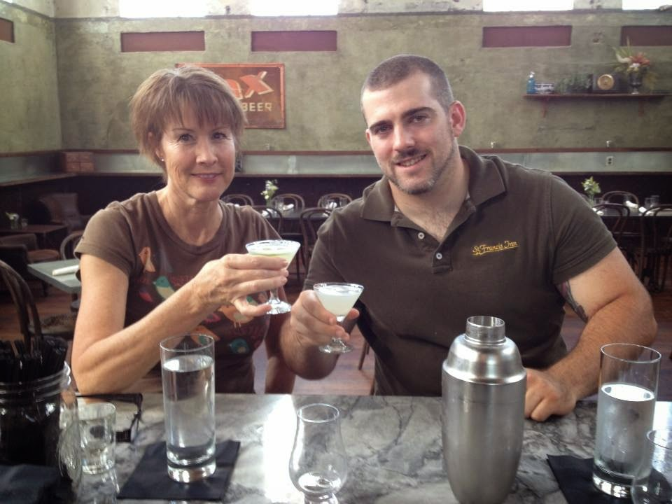 Friday and Saturday Nights at the St Francis Inn - How to Make the Perfect Gin Cocktail 1 Elle+and+Travis+at+GIN+101+Class St. Francis Inn St. Augustine Bed and Breakfast