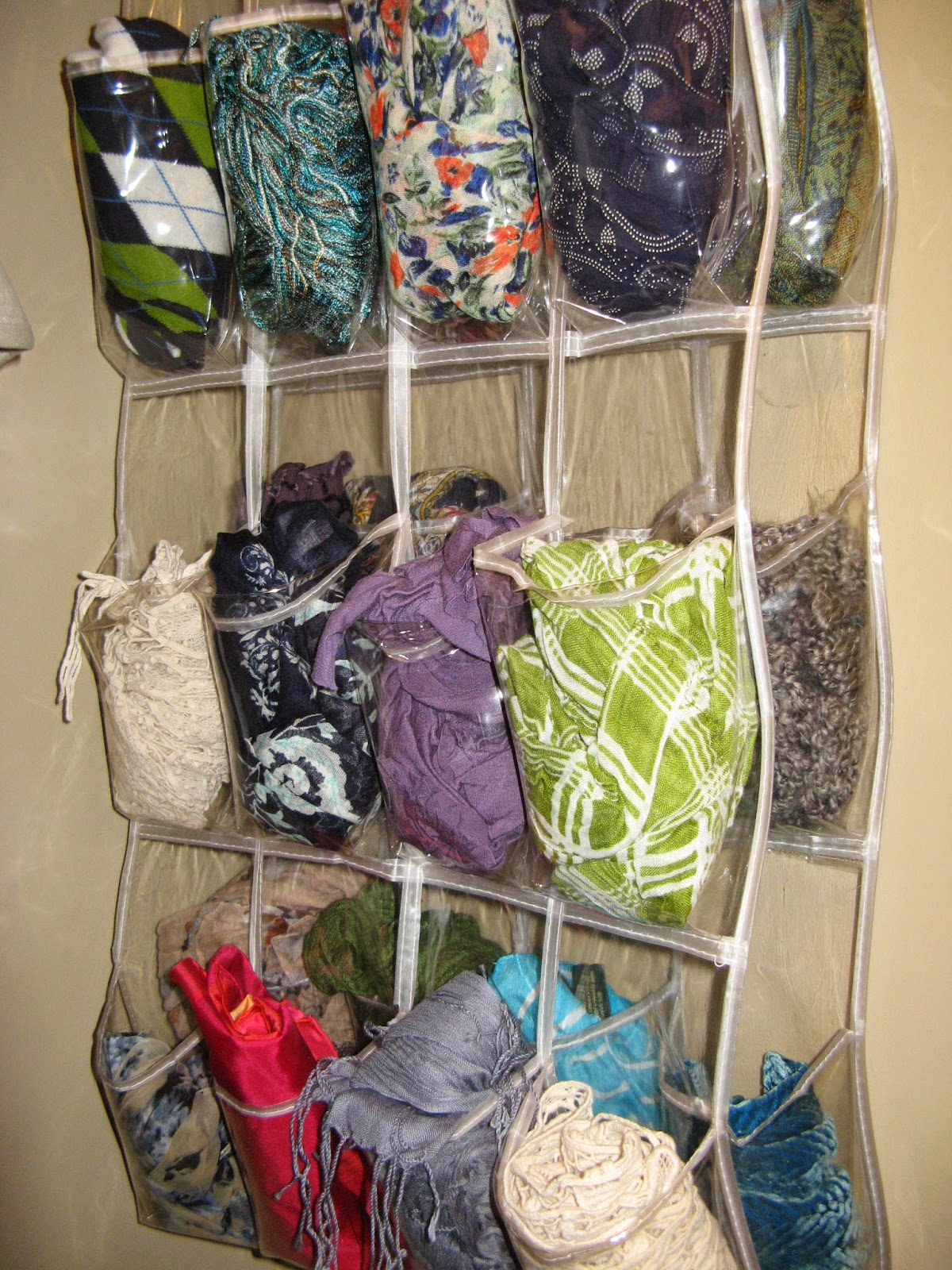 14 Closet Organizing Tips - SCARVE STORAGE
