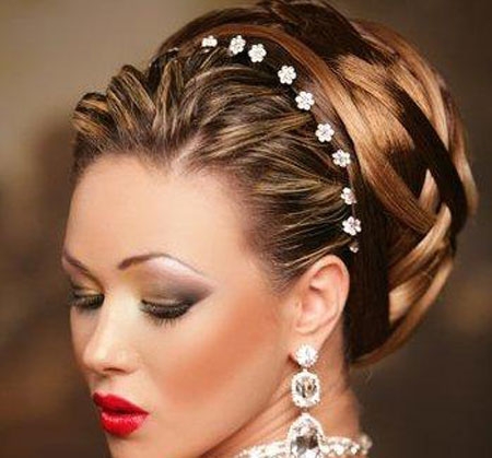 bridal hair design hair designs for wedding party hair makeup hair ...