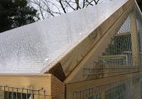 Rainproof roofing for the hens pen