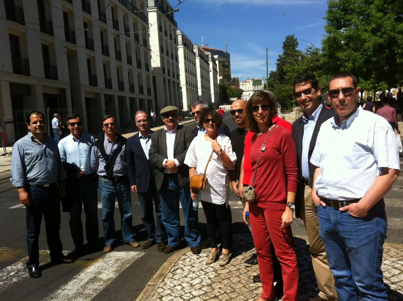 Delegação do Partido Socialista no primeiro Maio da CGTP-IN e vários sindicalistas socialistas da CGTP-IN