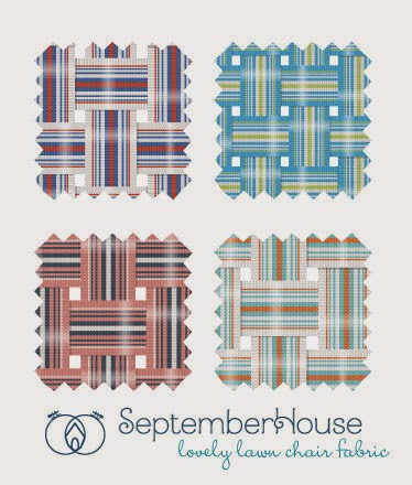 retro lawn chair fabric pattern by septemberhouse