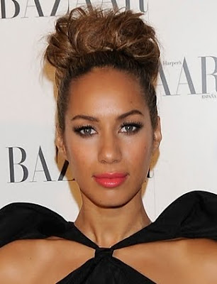 Leona Lewis chic with a sleek bun Hairstyle
