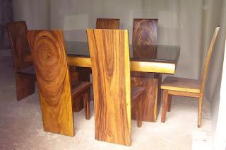 kursi makan kayu trembesi