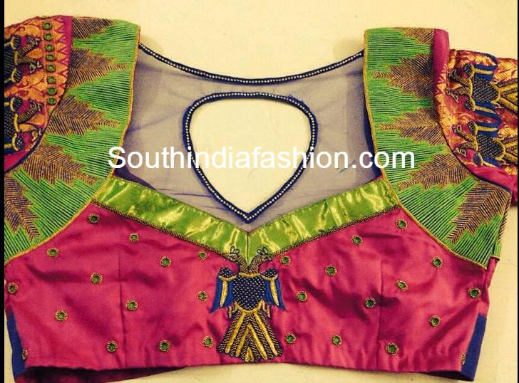blouse designs for traditional pattu sarees