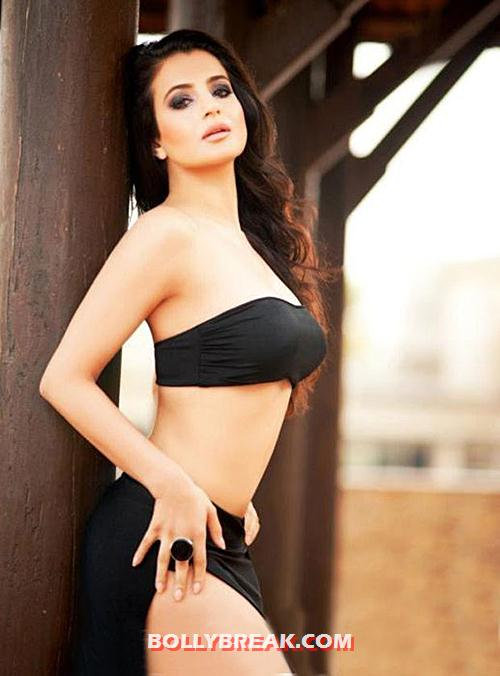Amisha Patel in black bikini, navel and leg show - Amisha Patel 7 Hottest Photos From 2012 - Which one you like the Most?