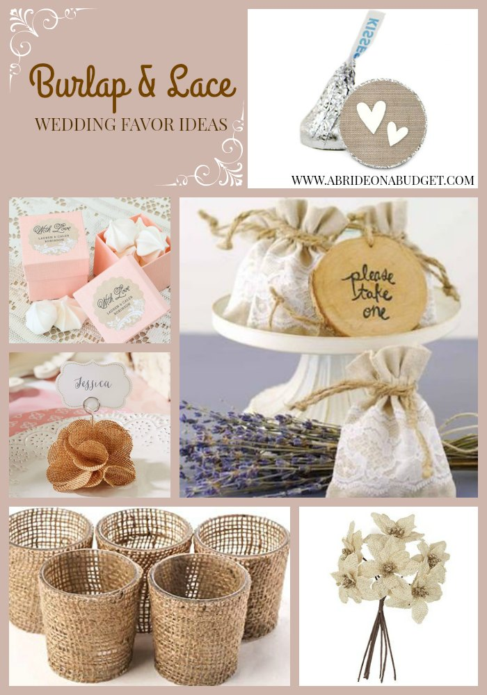 Wedding Gift Ideas Low Budget : ... these burlap and lace wedding favor ideas from A Bride On A Budget