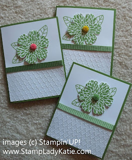 Card made with Stampin'UP! Stamp Set Betsy's Blossoms and Stampin'UP! Dahlias