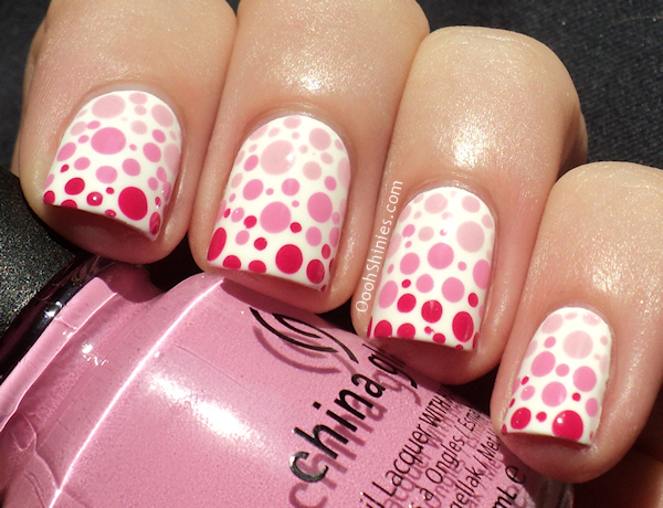 China Glaze Snow with Something Sweet, Dance Baby and Fuchsia Fanatic