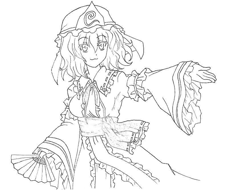 Zombie Princess Coloring Pages : Yuyuko saigyouji zombie jozztweet