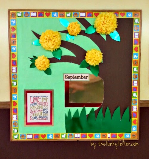 handmade fruit of the spirit verse school bulletin board