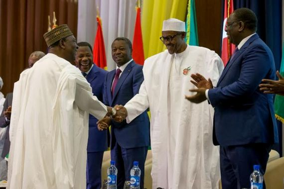 Photos: Buhari at the opening ceremony of ECOWAS heads of govt meeting