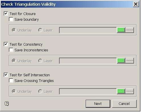 Maptek Vulcan - Check Triangulation Validity