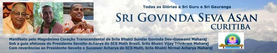 Sri Govinda Seva Asan - Curitiba - Sri Chaitanya Saraswat Math - Curitiba