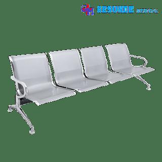 kursi tunggu steinless steel silver 4 sheet