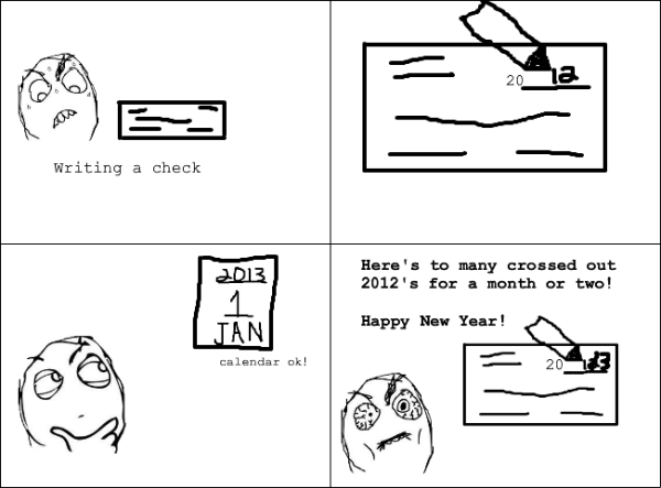 Funny Blank Cheques Blank Cheques on New Year