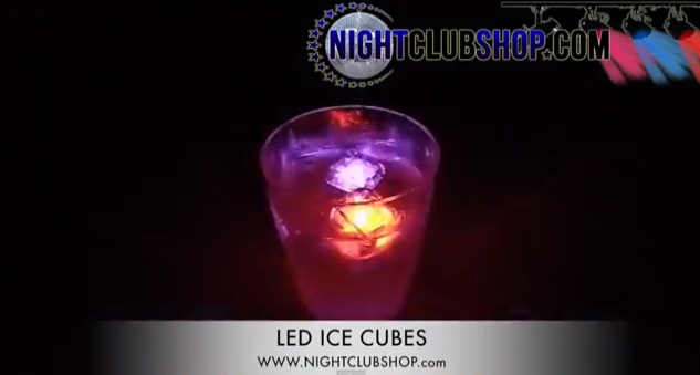 led lited ice cubes light up your evening
